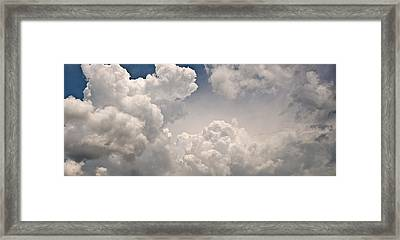 Panoramic Clouds Number 9 Framed Print by Steve Gadomski