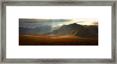 Panoramic Image Of The Cloudy Range Framed Print by Robert Postma