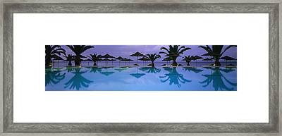 Panoramic View Of Infinity Pool Framed Print by Axiom Photographic