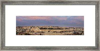 Panoramic View Of Jerusalem Framed Print by Noam Armonn
