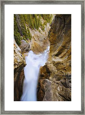 Panther Falls, Banff National Park Framed Print by Yves Marcoux
