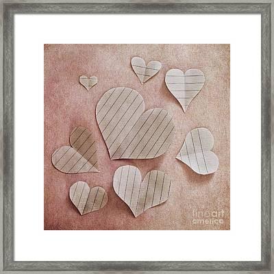 Papier D'amour Framed Print by Priska Wettstein