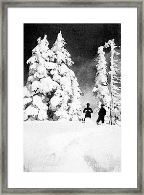 Paradise Inn, Mt. Ranier, 1917 Framed Print by Science Source