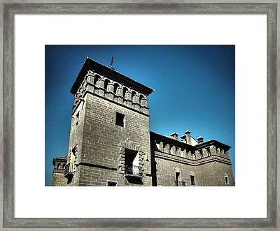 Parador De Alcaniz - Spain Framed Print by Juergen Weiss