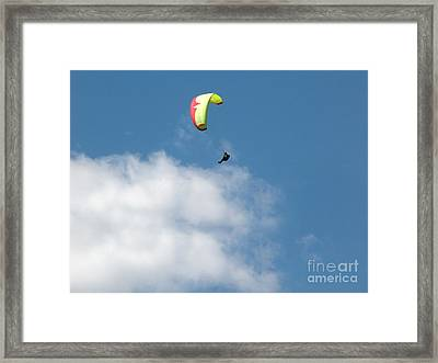 Paraglider Framed Print by Cindy Singleton