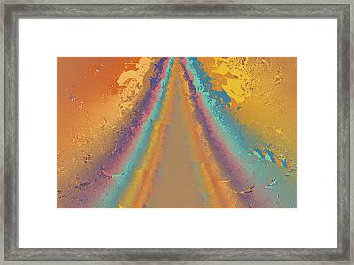 Parameter Space Mountain Framed Print by Mark Greenberg