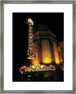 Paramount Theatre Illinois Framed Print by Todd Sherlock