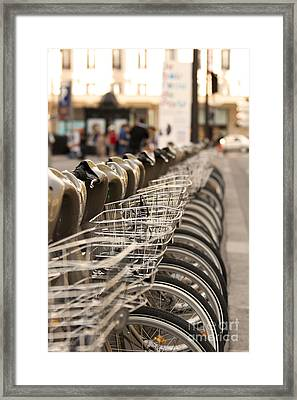 Paris Bikes Framed Print by Igor Kislev