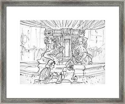 Paris Fountain Framed Print by Marilyn MacGregor