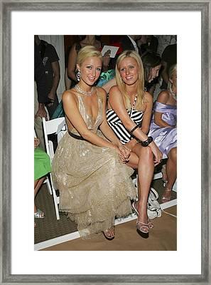 Paris Hilton, Nikki Hilton At Arrivals Framed Print by Everett