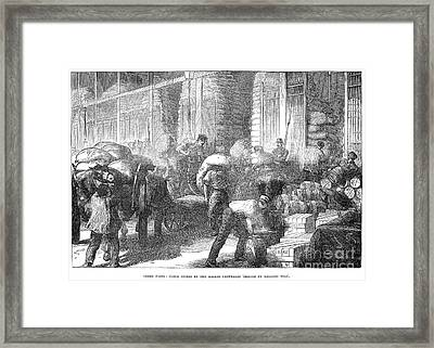 Paris: Les Halles, 1870 Framed Print by Granger