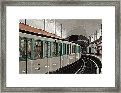 Paris Metro Framed Print by Mary Machare