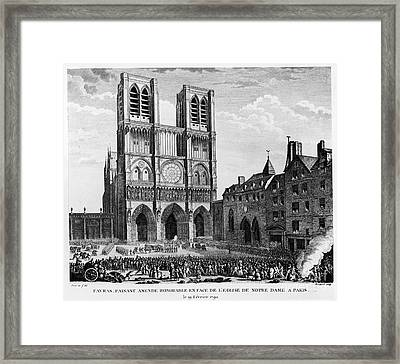 Paris: Notre Dame, 1790 Framed Print by Granger