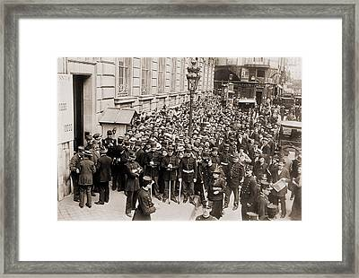Paris Police Hold Back A Crowd Making Framed Print by Everett