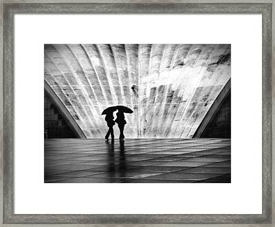 Paris Umbrella Framed Print by Nina Papiorek