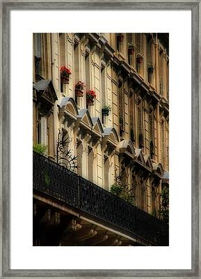 Paris Windows Framed Print by Andrew Fare