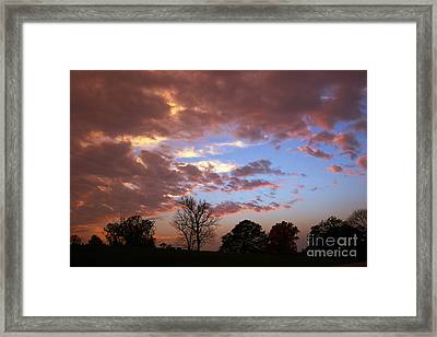Park At Sunset Framed Print by Susan Isakson