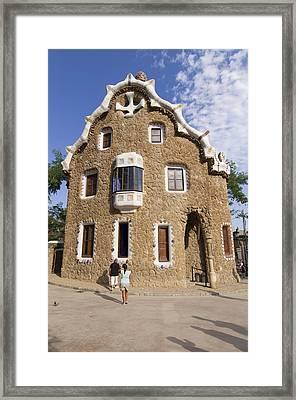 Park Guell Barcelona Antoni Gaudi Framed Print by Matthias Hauser