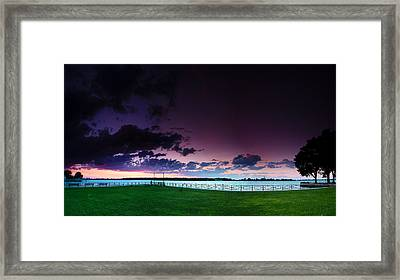 Park Pano Framed Print by Cale Best