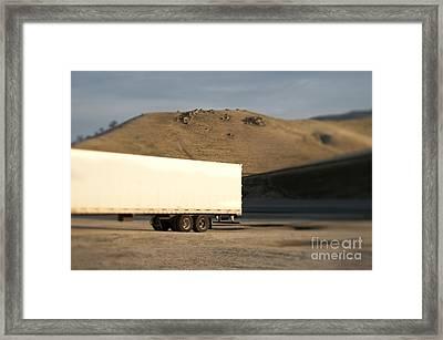 Parked Semi Trailer Framed Print by Eddy Joaquim