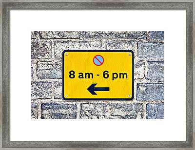 Parking Sign Framed Print by Tom Gowanlock