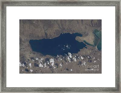 Part Of The Dead Sea And Parts Framed Print by Stocktrek Images