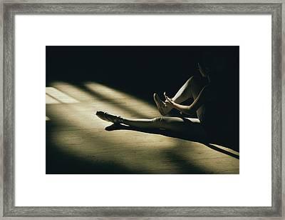 Partially Hidden In Shadow, A Ballet Framed Print by Robert Madden