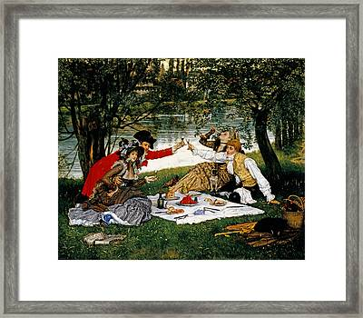 Partie Carree Framed Print by James Jacques Joseph Tissot