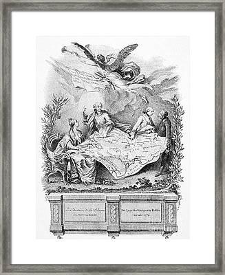 Partition Of Poland, 1773 Framed Print by Granger