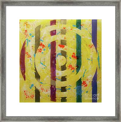 Party- Bullseye 1 Framed Print by Mordecai Colodner