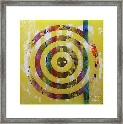 Party- Bullseye 2 Framed Print by Mordecai Colodner