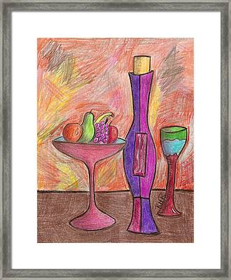 Party Of One Framed Print by Ray Ratzlaff