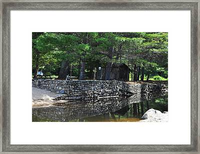 Pasquaney Creek Framed Print by Vanessa Williams