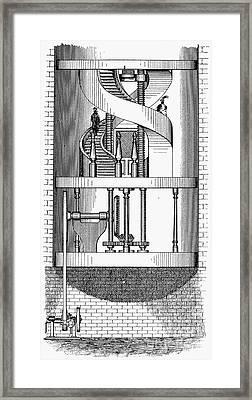 Passenger Elevator, 1876 Framed Print by Granger