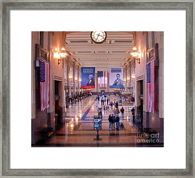 Passengers And Flags Framed Print by Tim Mulina