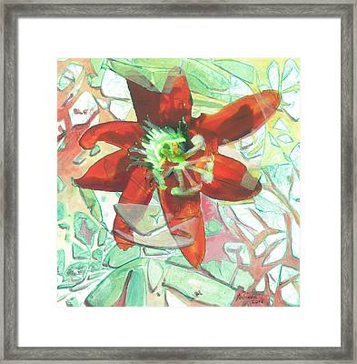 Passion Collision Framed Print by Arlissa Vaughn