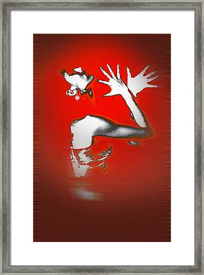 Passion In Red Framed Print by Naxart Studio
