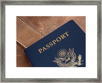Passport Framed Print by Blink Images
