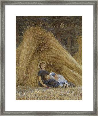 Past Work Framed Print by Helen Allingham