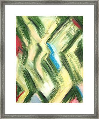 Pastel Green Shrubs And Bushes Framed Print by Kazuya Akimoto
