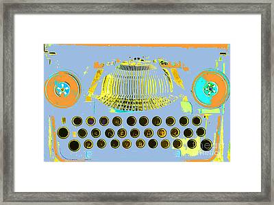 Pastel Pop Typewriter Art Framed Print by ArtyZen Studios