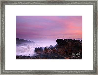 Pastel Salt Spray Framed Print by Mike  Dawson