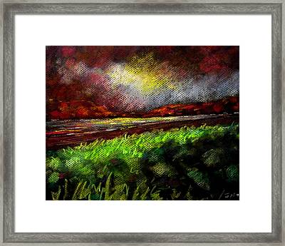 Pastel Sunset Framed Print by John  Nolan