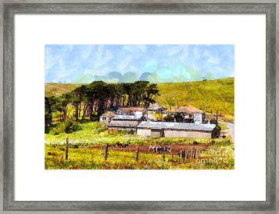 Pastoral Cattle Ranch Landscape  . 7d16047 Framed Print by Wingsdomain Art and Photography