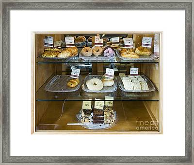 Pastry Items For Sale Framed Print by Andersen Ross