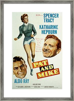 Pat And Mike, Aldo Ray, Katharine Framed Print by Everett