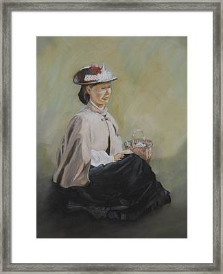 Patiently Waiting Framed Print by Joyce Reid