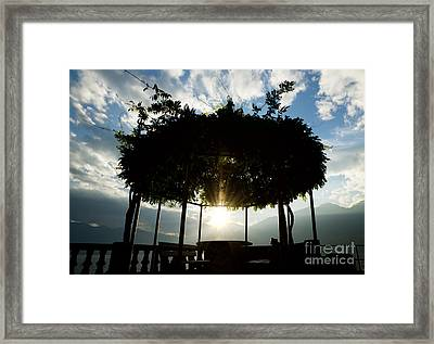 Patio Framed Print by Mats Silvan