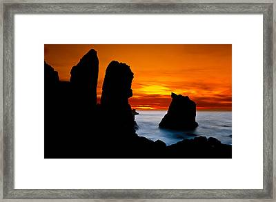 Patrick's Point Silhouette Framed Print by Greg Nyquist