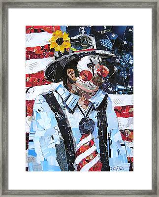 Patriotic Clown Framed Print by Suzy Pal Powell